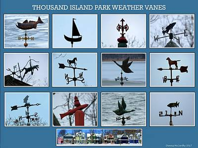 Photograph - Thousand Island Park Weather Vanes by Dennis McCarthy