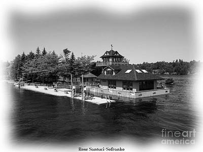 Thousand Islands In Black And White Art Print