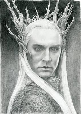 Thranduil The Elven King Of Mirkwood Art Print by Bitten Kari