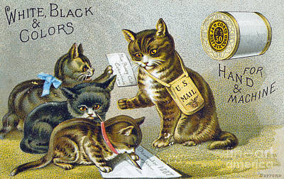 1880s Photograph - Thread Trade Card, 1880 by Granger