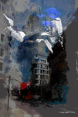 Digital Art - Threadneedle Street by Roger Lighterness