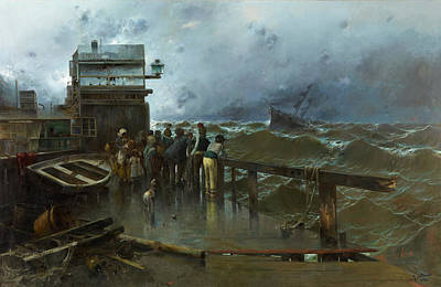 Threat Of Shipwreck Art Print