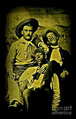 Three 1880s Midwestern Ruffians Art Print by Peter Gumaer Ogden