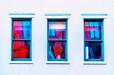 Photograph - Three Abstract Windows by Frances Ann Hattier