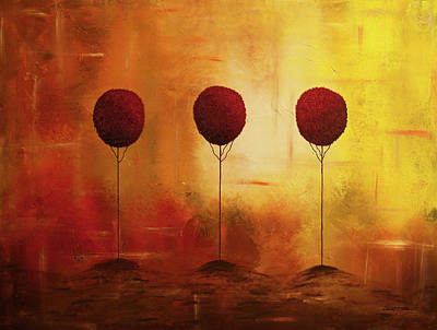 Painting - Three Alone But Together by Carmen Guedez