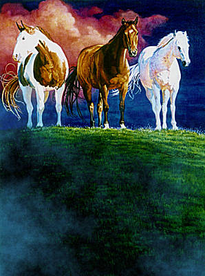 Three Amigos At Sunrise Print by Hanne Lore Koehler