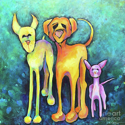 Painting - Three Amigos by Cindy DeGraw