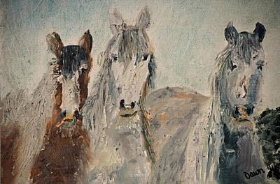 Painting - Three Amigos by Dawn Richerson