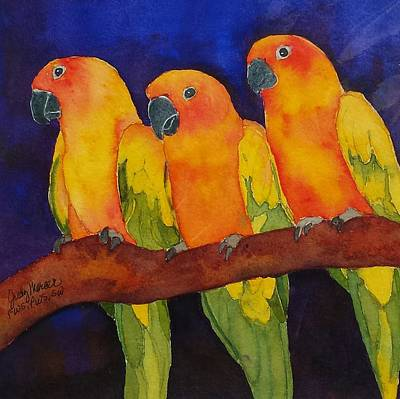 Painting - Three Amigos by Judy Mercer