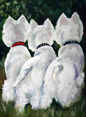 Three Amigos Painting - Three Amigos by Mary Sparrow