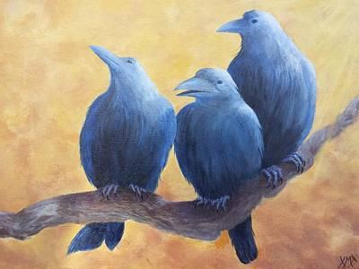 Wa Painting - Three Amigos  by Xochi Hughes Madera