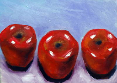 Painting - Three Apples by Katy Hawk