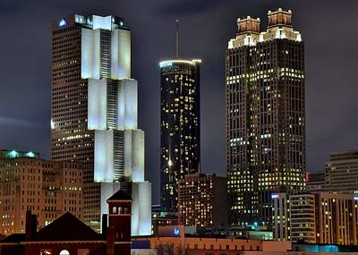 Photograph - Three Atlanta Towers by Frozen in Time Fine Art Photography