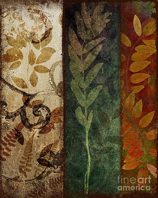 Triptych Painting - Three Autumns by Mindy Sommers