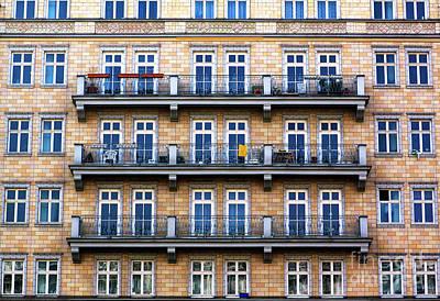 Photograph - Three Balconies In East Berlin by John Rizzuto