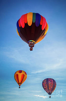 Photograph - Three Balloons by Inge Johnsson