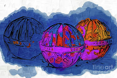 Digital Art - Three Balls by Kirt Tisdale