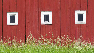 Photograph - Three Barn Windows by Alan L Graham