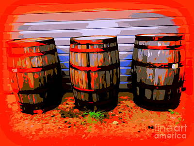 Digital Art - Three Barrels by Ed Weidman
