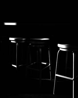 Photograph - Three Barstool Sunrise by Bob Orsillo