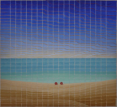Painting - Three Beach Umbrellas by Jesse Jackson Brown