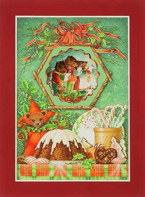 Painting - Three Bears Christmas by Lynn Bywaters