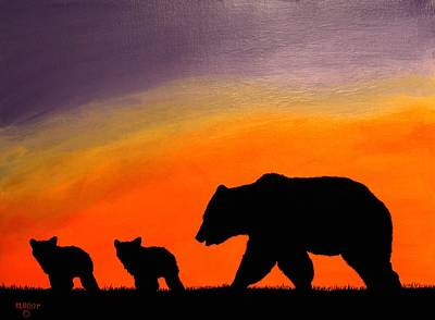 Painting - Three Bears by Ralph Root