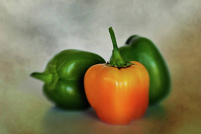 Photograph - Three Bell Peppers by David and Carol Kelly