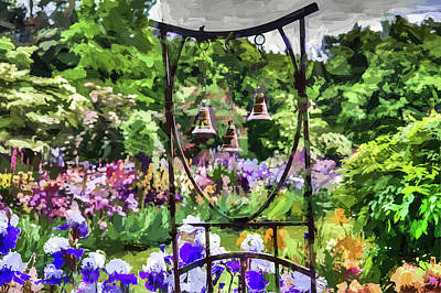 Photograph - Three Bells In The Garden by Thom Zehrfeld