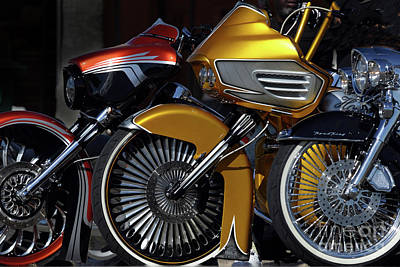 Photograph - Three Bikes by Rick Mann