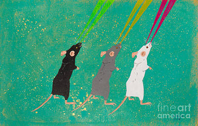 Painting - Three Blind Mice by Stefanie Forck