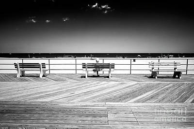 Photograph - Three Boardwalk Benches by John Rizzuto
