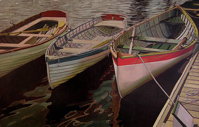 Three Boats Art Print