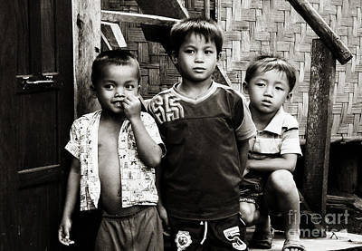 Photograph - Three Boys by Ethna Gillespie