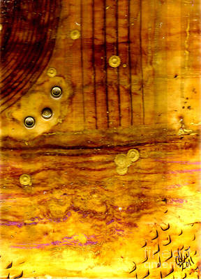 Mixed Media - Three Brass Rings II by Angela L Walker