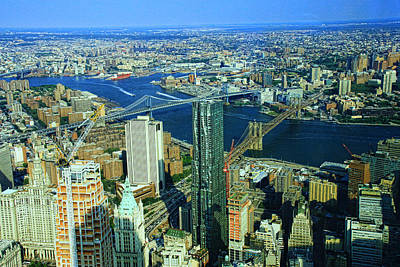 Photograph - Three Bridges As Seen From One World Trade Center by Allen Beatty