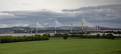 Photograph - Three Bridges Over The Forth by Teresa Wilson