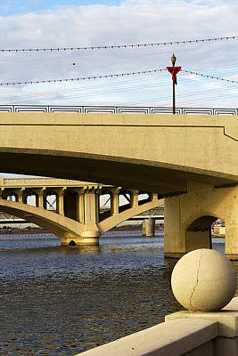 Art Print featuring the photograph Three Bridges by Phyllis Denton