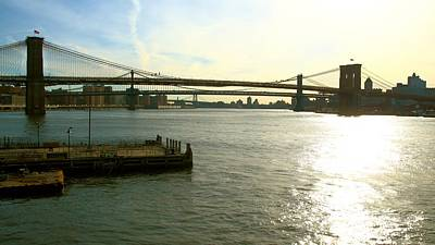 East River Photograph - Three Bridges by Robert McCulloch