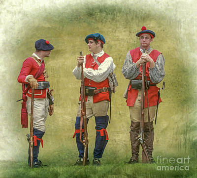 Digital Art - Three British Soldiers Bushy Run by Randy Steele