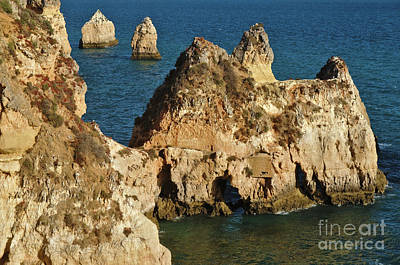 Photograph - Three Brothers Beach From The Cliff In Algarve by Angelo DeVal