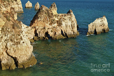 Photograph - Three Brothers Beach Overview In Algarve by Angelo DeVal