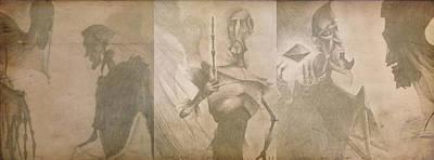 Master Potter Digital Art - Three Brothers - Combined by Lisa Leeman