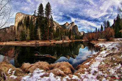 Photograph - Three Brothers Yosemite  by Blake Richards