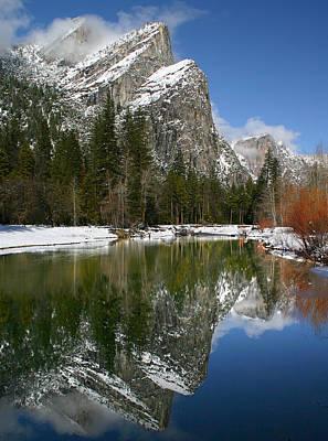 Photograph - Three Brothers, Yosemite by Tom Kidd