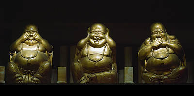 Photograph - Three Buddhas by Gary Dean Mercer Clark