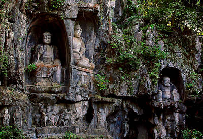 Photograph - Three Buddhas by Harry Spitz