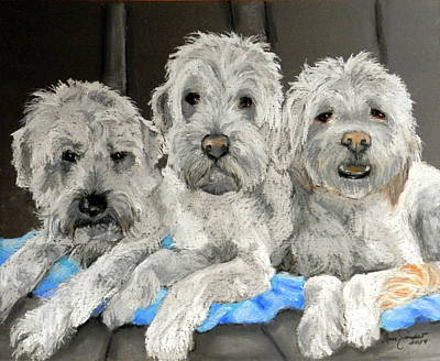 Pastel - Three Buddies by Lenore Gaudet