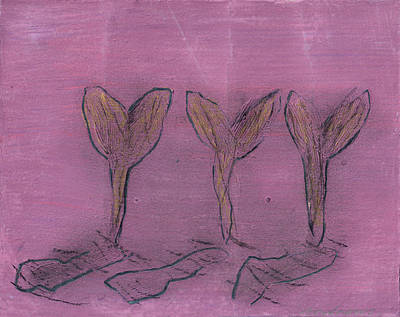 Painting - Three Buds by Annabel Andrews