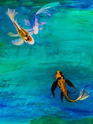 Three Butterfly Koi Original by Lynne Albright